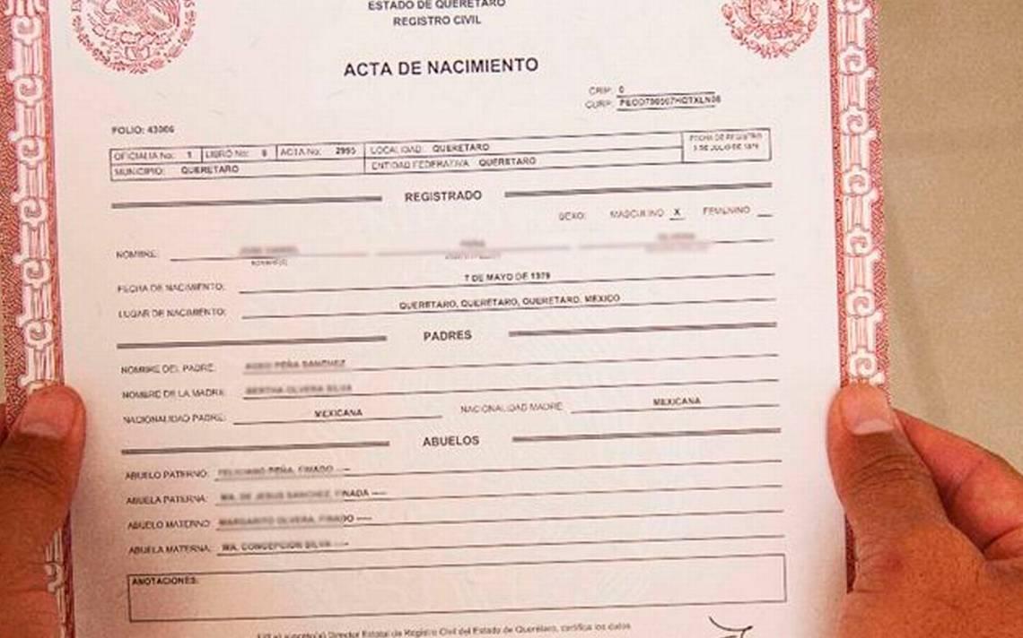 Detectan al menos tres actas de nacimiento falsas - El Sol de Tampico
