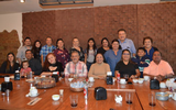 Con su familia e invitados Raúl Gudiño en su festejo de cumpleaños/ Silvia Rangel