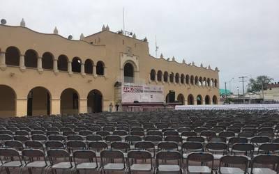 Todo listo para recibir a AMLO en Nuevo Laredo, Tamaulipas