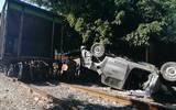 Camioneta choca con tren en la colonia Morelos | Crédito: José Luis Tapia